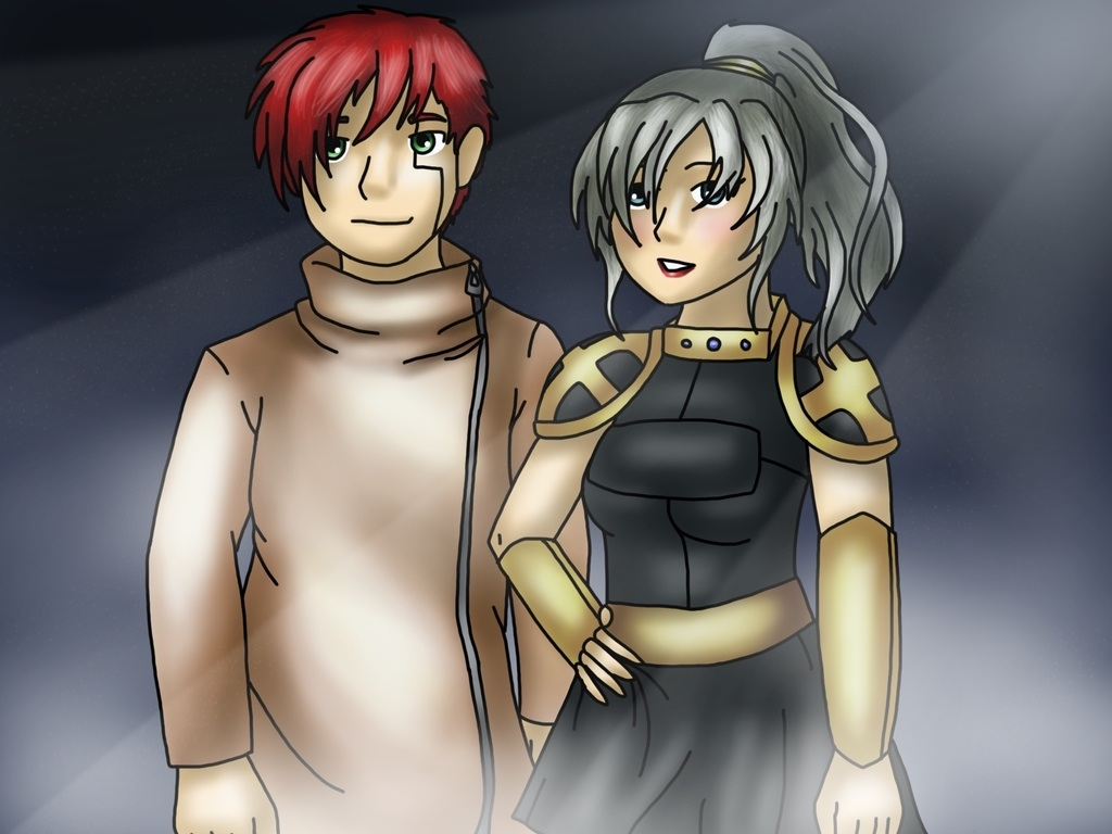 Guest Art: Cain and Kylie by Empathetic Dinosaur